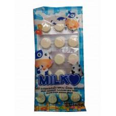 Молочные таблетки из сухого молока Milko Sweetened Flavoured Milk Tablet - Round Shape Roscela Brand