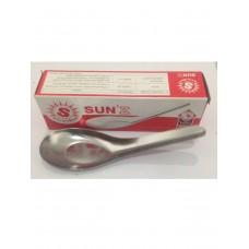 Металлическая китайская ложка для соусов и первых блюд Zebra - набор 6 штук в упаковке