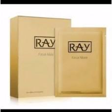 Маска для лица с Коллоидным Золотом Ray Facial Mask Gold, 1 Box - 10 шт