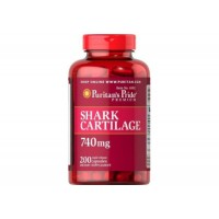 12 дней Акулий Хрящ для восстановления суставов и связок Puritan's Pride Shark Cartilage 740 mg. 100 капсул США