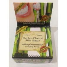 "Тайская травяная отбеливающая зубная паста Bamboo Charcoal ""Clinicaly Droven"" Rochjana, 30 гр"