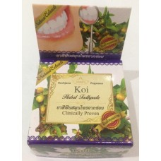 "Тайская травяная отбеливающая зубная паста Koi ""Clinicaly Droven"" Rochjana, 30 гр"