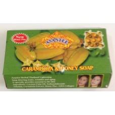 Травяное тайское мыло с Карамболой и медом - Asantee  (125 гр)