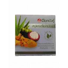 Травяное мыло с мангостином, алое, тамариндом, имбирем и танакой Twin Lotus 85 гр