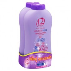 Пудра (тальк) - 12 Plus Perfume Refreshing Cool Powder (Purple) 300g x 2pcs