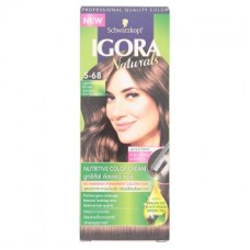 Краска для волос - Igora Naturals 5-68 Light Mahogany Brown Nutritive Color Cream 1 Set