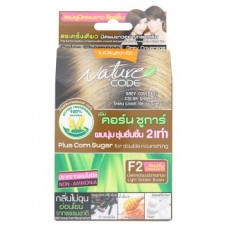 Краска для волос - Lolane Nature Code F2 Light Golden Brown Grey Coverage Color Shampoo 1 Set