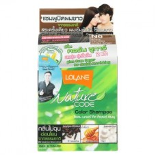 Краска для волос - Lolane Nature Code N6 Golden Brown Grey Coverage Color Shampoo 1 Set