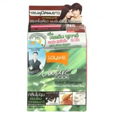 Краска для волос - Lolane Nature Code N5 Red Brown Color Shampoo 1 Set