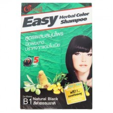 Краска для волос - Caring Easy B1 Natural Black Herbal Color Shampoo 1 Set
