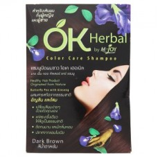 Шампунь - OK Herbal Dark Brown Color Care Shampoo 30ml