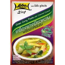 Зеленый Карри паста с кокосовым кремом, 100 гр