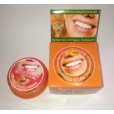 Тайская зубная паста Kinaree на основе трав с гвоздикой и папайей, 25 гр