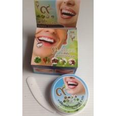 Тайская травяная отбеливающая зубная паста 9 трав Kinaree, 25 гр