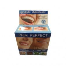 Тайский продукт Тайская отбеливающая зубная паста Prim Perfect, 25 гр купить из Таиланда в интернет-магазине - Thai Brand
