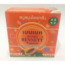 Натуральное мыло с папайей Bennet, 160 гр