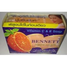 Тайский продукт Апельсиновое мыло Bennett с витаминоми С и Е, 130 гр купить из Таиланда в интернет-магазине - Thai Brand